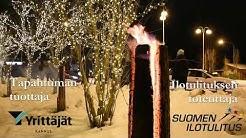 Suomi 100 -ilotulitus Kannuksessa 31.12.2017