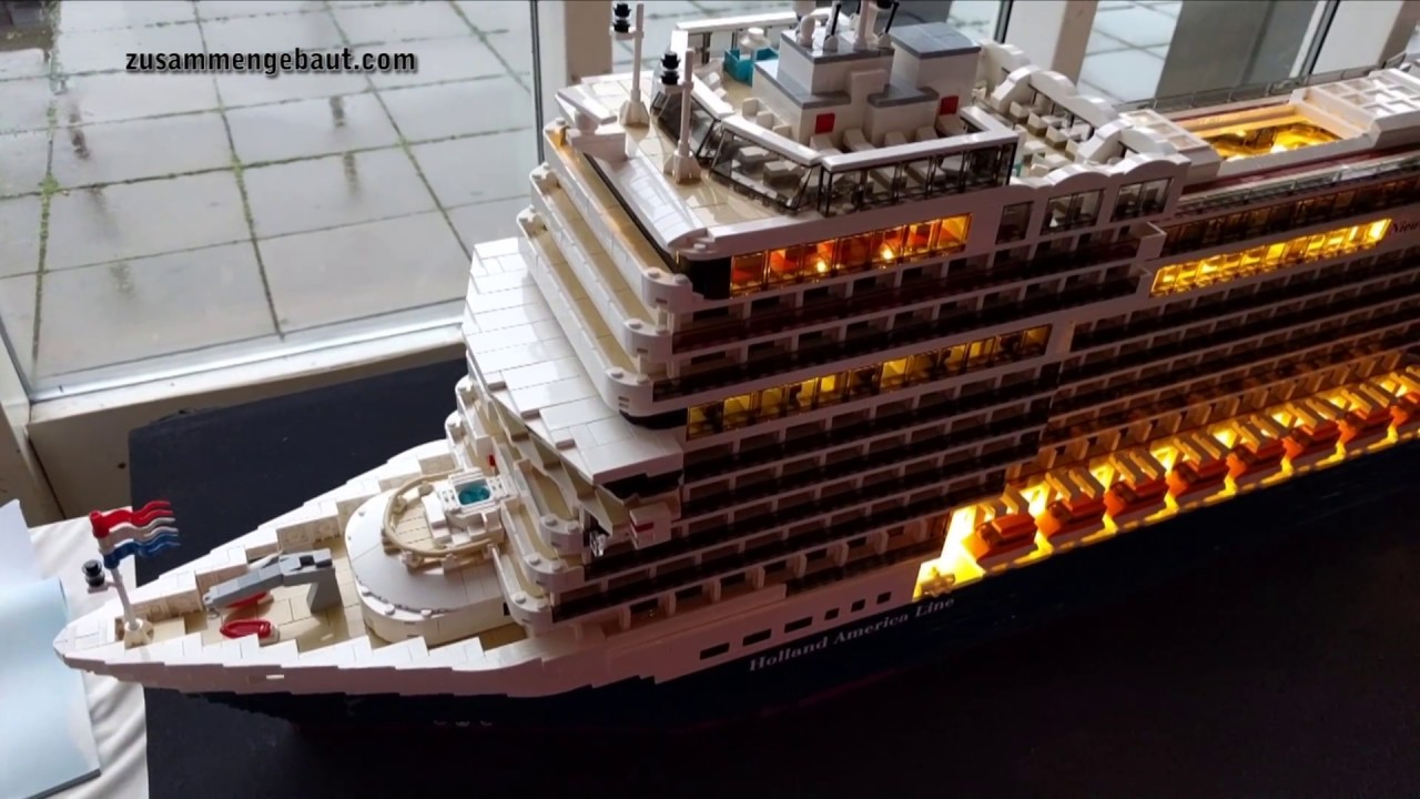 lego nieuw amsterdam kreuzfahrtschiff der holland amercia. Black Bedroom Furniture Sets. Home Design Ideas