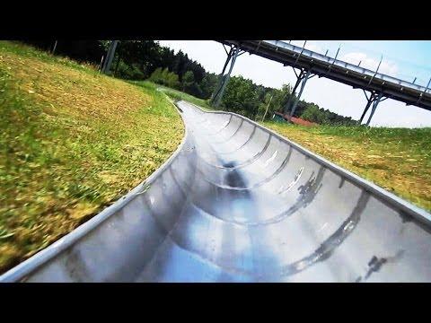 Sommer & Twinbob Rodelbahns on-ride HD POV Bayern Park