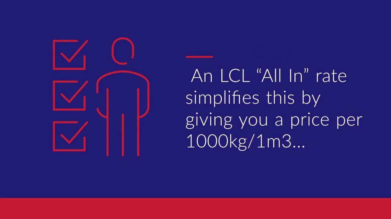 """LCL Container Prices - """"All In"""" Rates"""