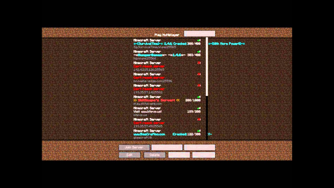 Minecraft 1 8 Server Ip 24 7 No Lag Hunger Games