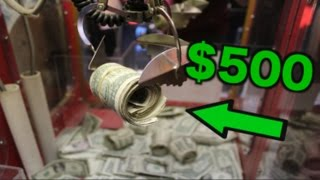 WINNING $500 FROM THE CLAW MACHINE! BROKE THE GLASS! | JOYSTICK