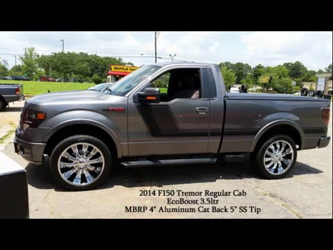 """Lifted F150 2017 >> F150 Reg Cab Tremor 3.5 Ecoboost Startup With MBRP 4"""" CatBack - YouTube"""