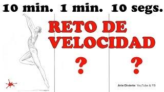 RETO DE VELOCIDAD: 10 Minutos / 1 Minuto / 10 Segundos! Una bailarina