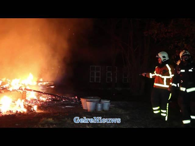 Woning Laren (Gld) door brand verwoest