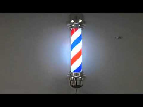 """27"""" Retro Style Barber Shop Pole w/ On/off Light & Rotation switch"""
