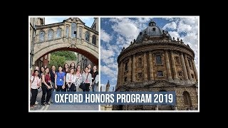 Oxford Honors 2019: The Program