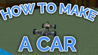 HOW TO MAKE A CAR THAT TURNS! | Build A Boat For Treasure | ROBLOX