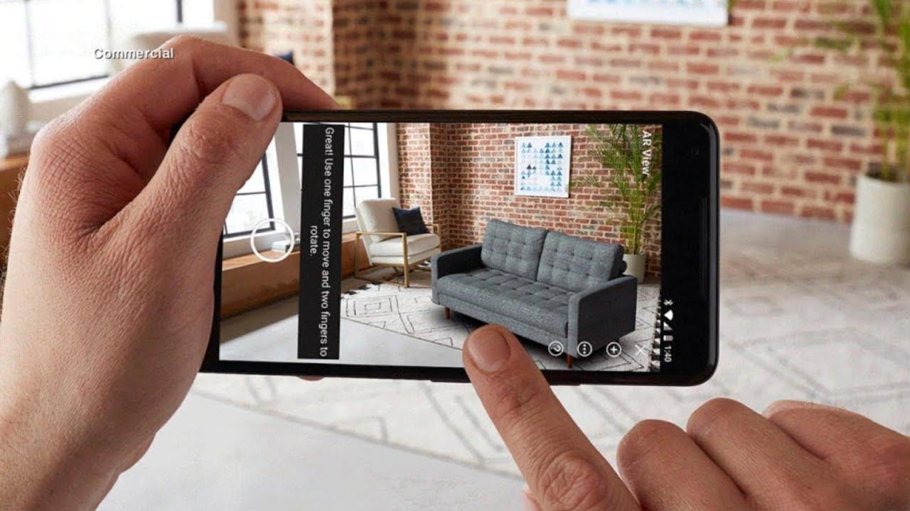 amazon adds augmented reality function to its android app. Black Bedroom Furniture Sets. Home Design Ideas