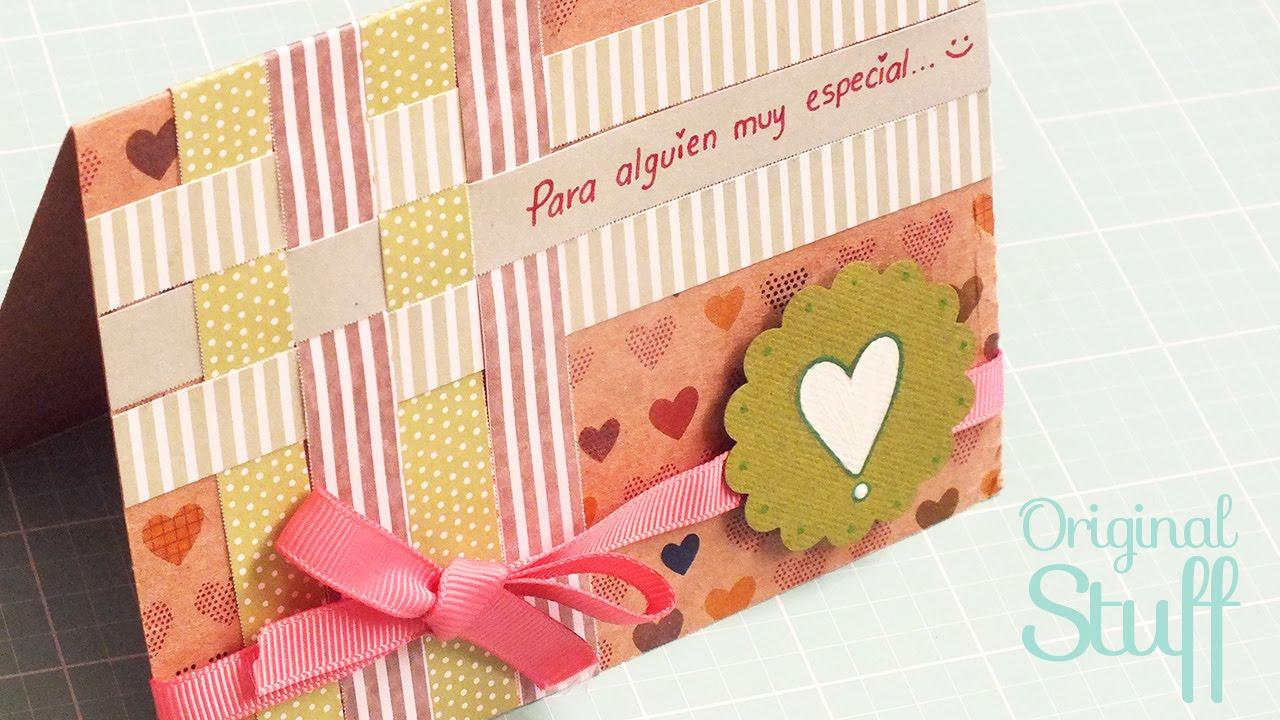 Tarjeta para regalar scrapbook original stuff youtube - Como hacer tarjetas para regalar ...