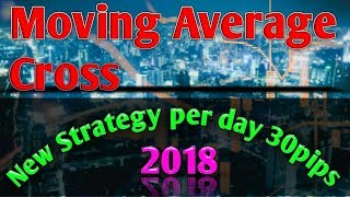 Moving average Cross New Strategy 80% working: Per day 30 pips profit by Forex trading  (08.01.2018)