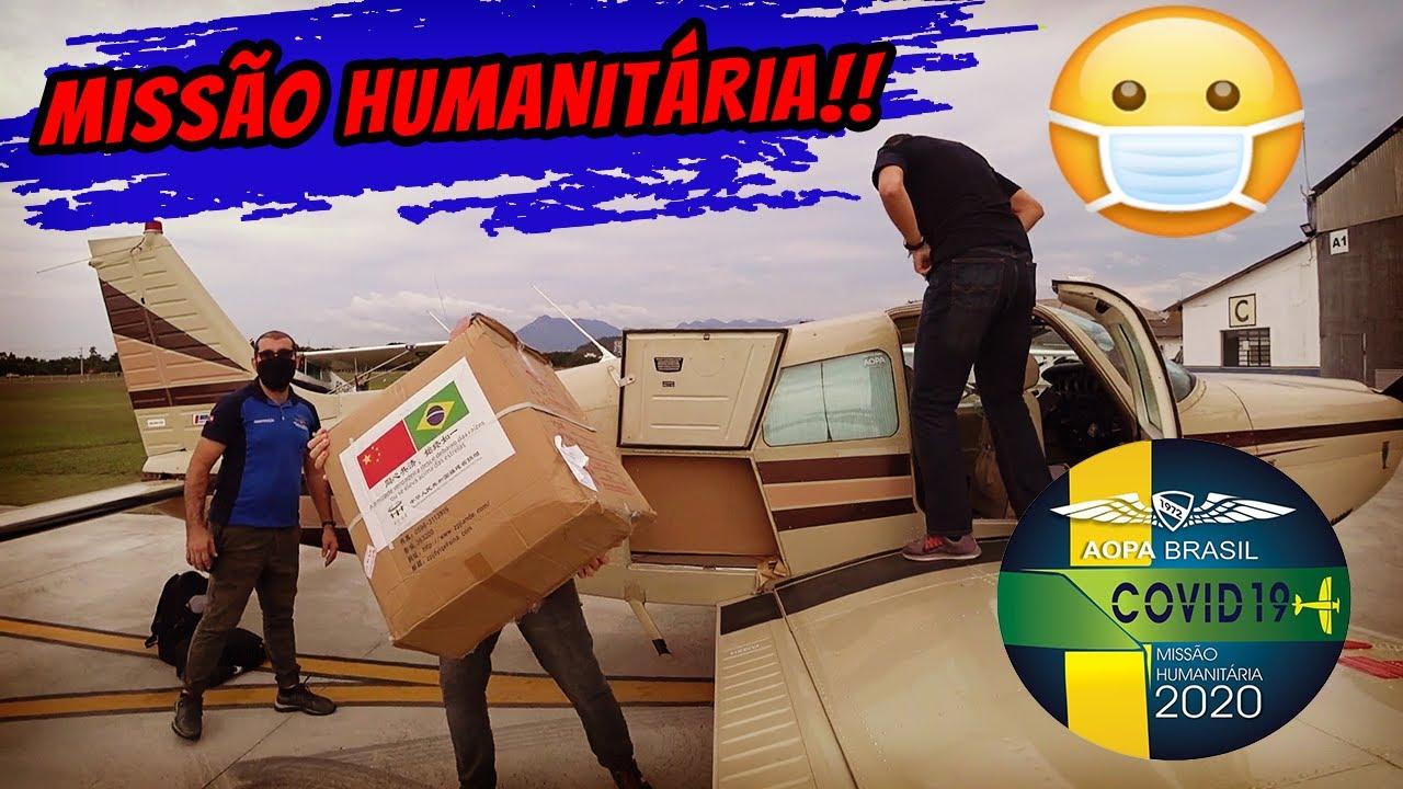 😷 Voo humanitário: Levando máscaras para Florianópolis com  AOPA [SBJD - SSKT]