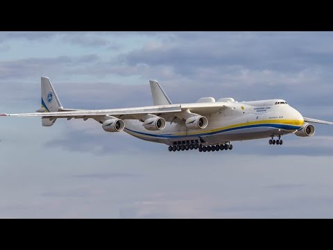 BIGGEST plane in the world! Antonov an-225 Mriya landing at Leipzig airport - Мрия посадка