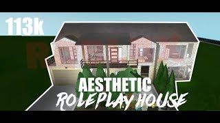 ROBLOX | Welcome to Bloxburg: Aesthetic Roleplay House 113k | SPEED BUILD