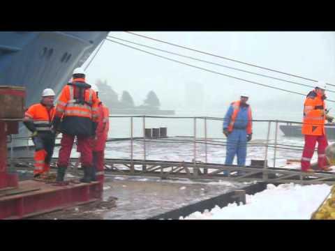 Jumbo Shipping unloading 270t Trafo in Rotterdam
