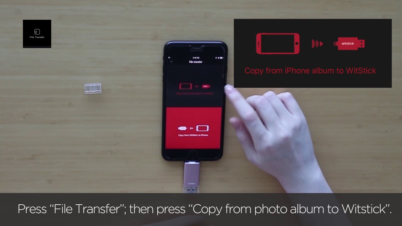 How to transfer pictures from iPhone to Omars memory stick? - YouTube