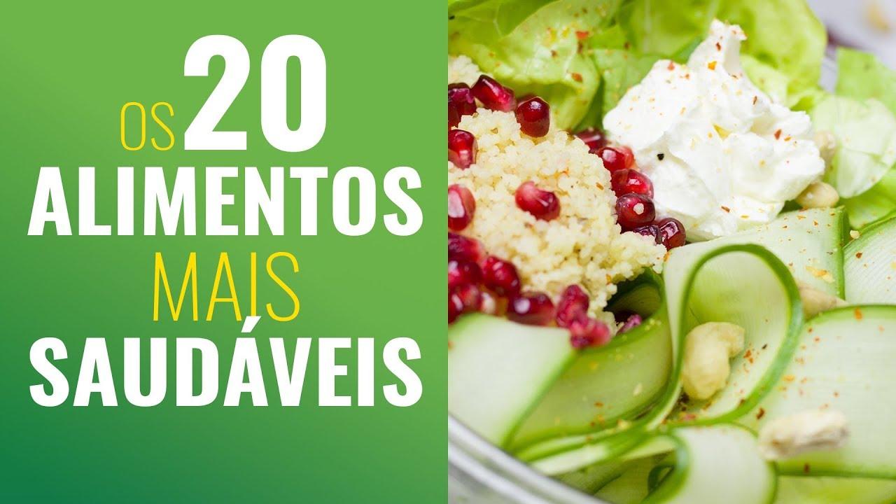 20 alimentos saudáveis benefícios