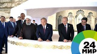 Президенты выпустили в Каспий мальков осетра и сделали общее фото - МИР 24