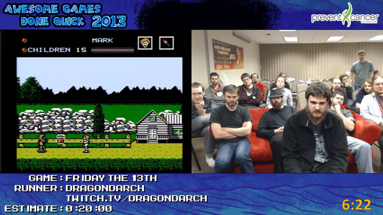 Friday The 13th Speed Run 08 21 Live At Awful Games