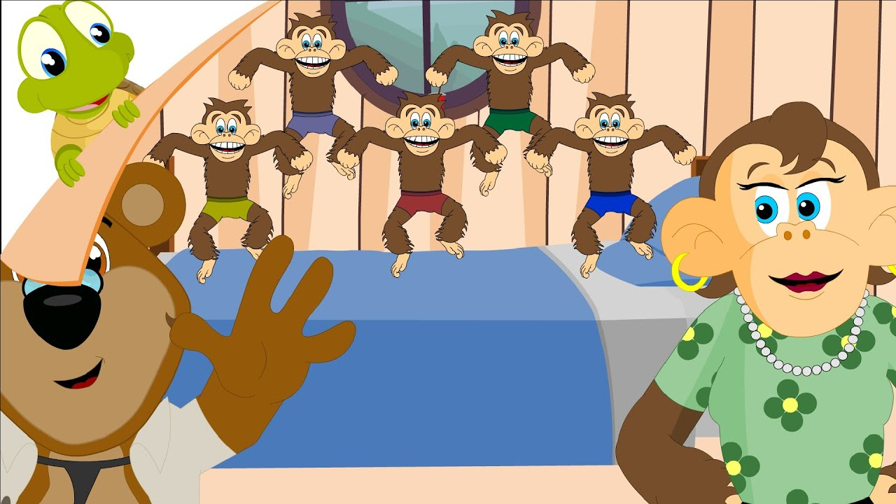 Five Little Monkeys Jumping On The Bed Nursery Rhymes