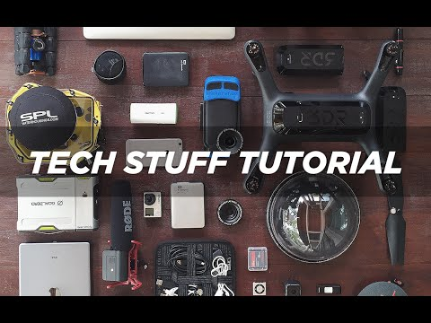 Tech Stuff Tutorial /// Everything You Need To Pack For A Travel Vlog /// The Bucket List Family