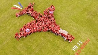 Herne Bay Junior School's  Human Red Arrow!