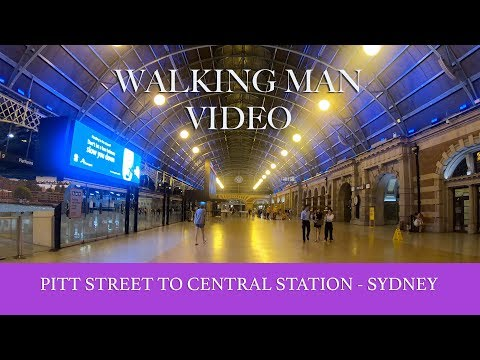 4K Walking Around Pitt Street And Central Station Sydney - Australia Tourism