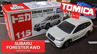 Tomica #115 SUBARU FORESTER 1//65 SCALE Takara Tomy NEW Toy Vehicle