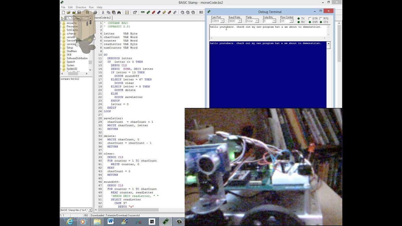 Morse Code on the Boe Bot