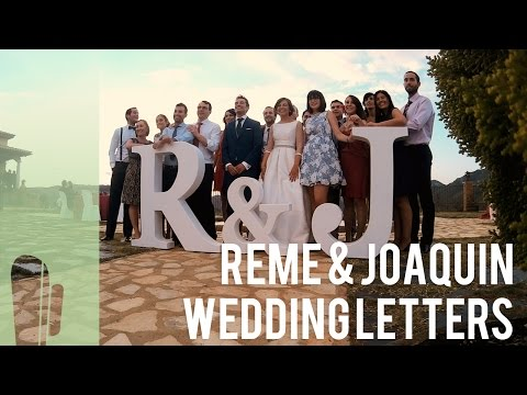 BIG DIY Letters for a wedding