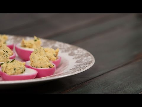 Pickled Pink Deviled Eggs | Southern Living