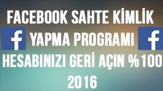 Facebook Kitlenen, Kapanan Hesaplara Kimlik PROGRAMI! %100 KASIM 2016