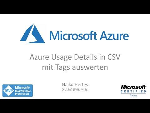 Microsoft Azure - Detaillierte Kostenaufstellung mit Tags auswerten