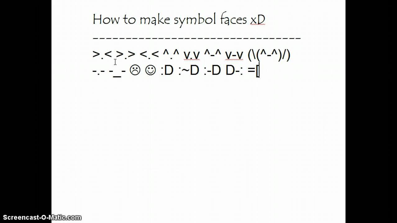 How to make symbol faces youtube buycottarizona