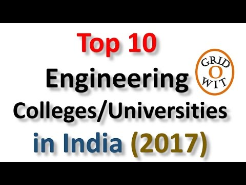 Top 10 Engineering Colleges in India 2017 (ranked by Government of India)    Gridowit