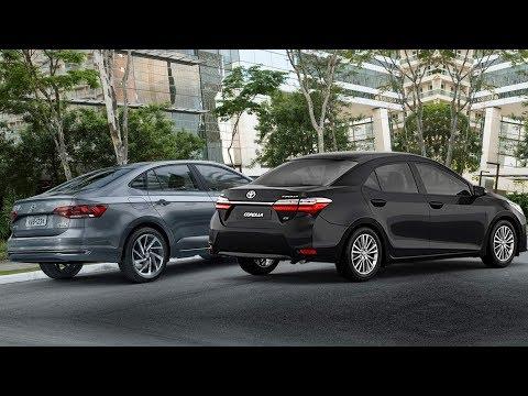 Toyota Corolla x VW Virtus: dimensões, características, preços - comparativo - www.car.blog.br