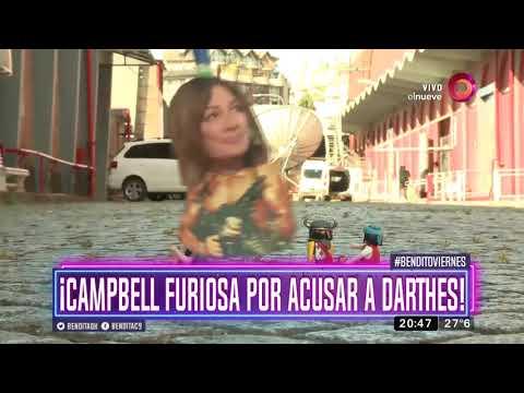 ¡Campbell furiosa por acusar a Darthes!