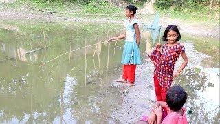 hook fishing । Puti fish । traditional village fishing puti catching by hook ( Part 05 )