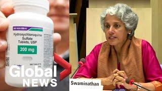Coronavirus outbreak: World Health Organization resumes hydroxychloroquine trial | FULL