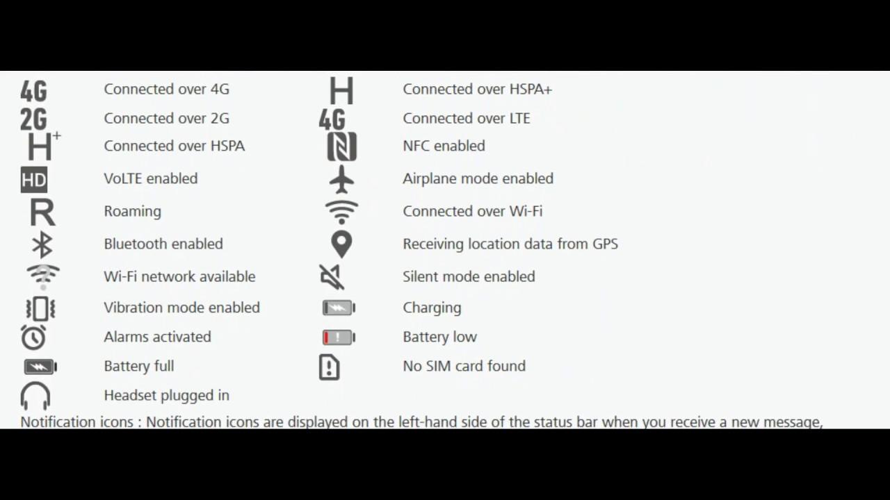 Status Bar Icons Details Huawei Mate 10