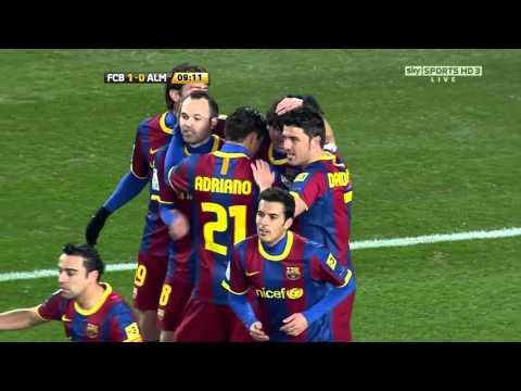 barcelona vs almeria  Copa del Rey 26-01-2011