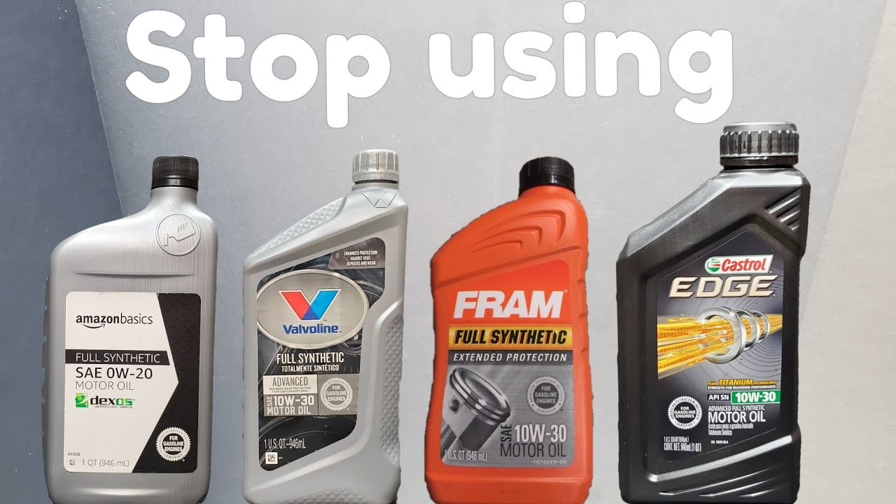 STOP using the wrong motor oil!