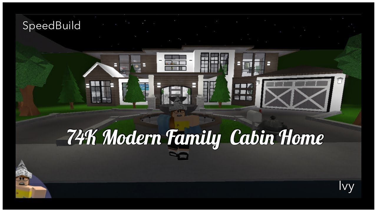 74k Modern Family Cabin Home Roblox Bloxburg Youtube