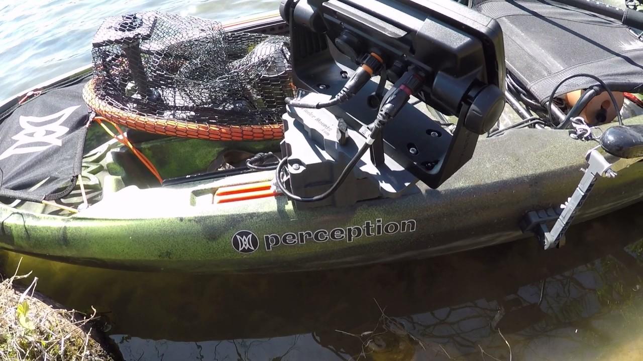 Kayak fish finder transducer mount kit youtube for Canoe fish finder