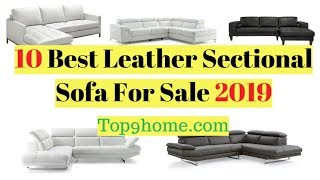 10 Best Leather Sectional Sofa For Sale 2019