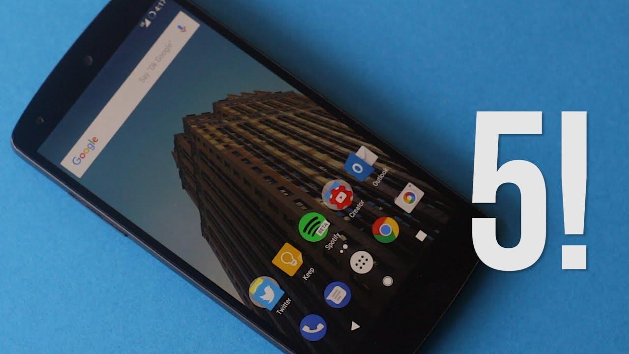 Top 5 Custom ROMs for the Nexus 5! (Mid 2017)