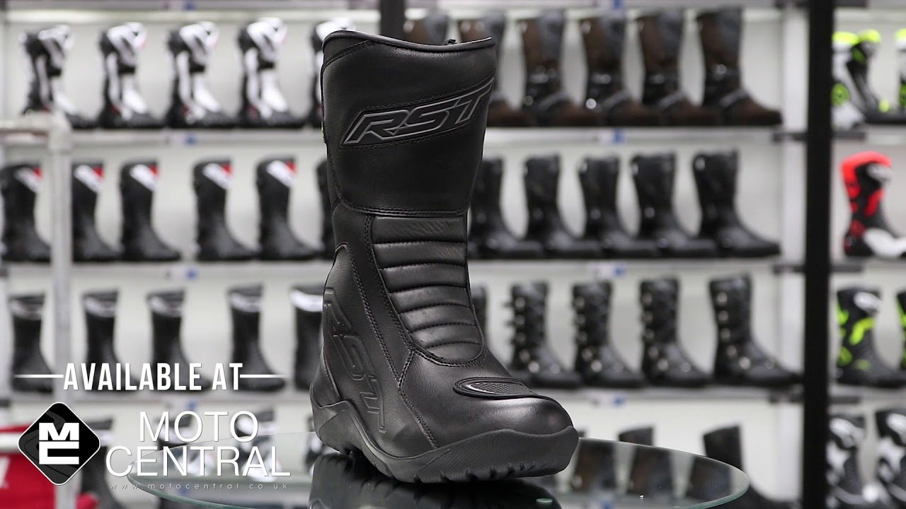 Black RST Tundra Motorcycle Motorbike CE Approved Ladies Waterproof Boots