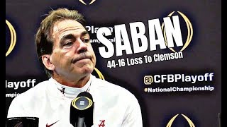 Nick Saban following 44-16 loss to Clemson in the National Championship