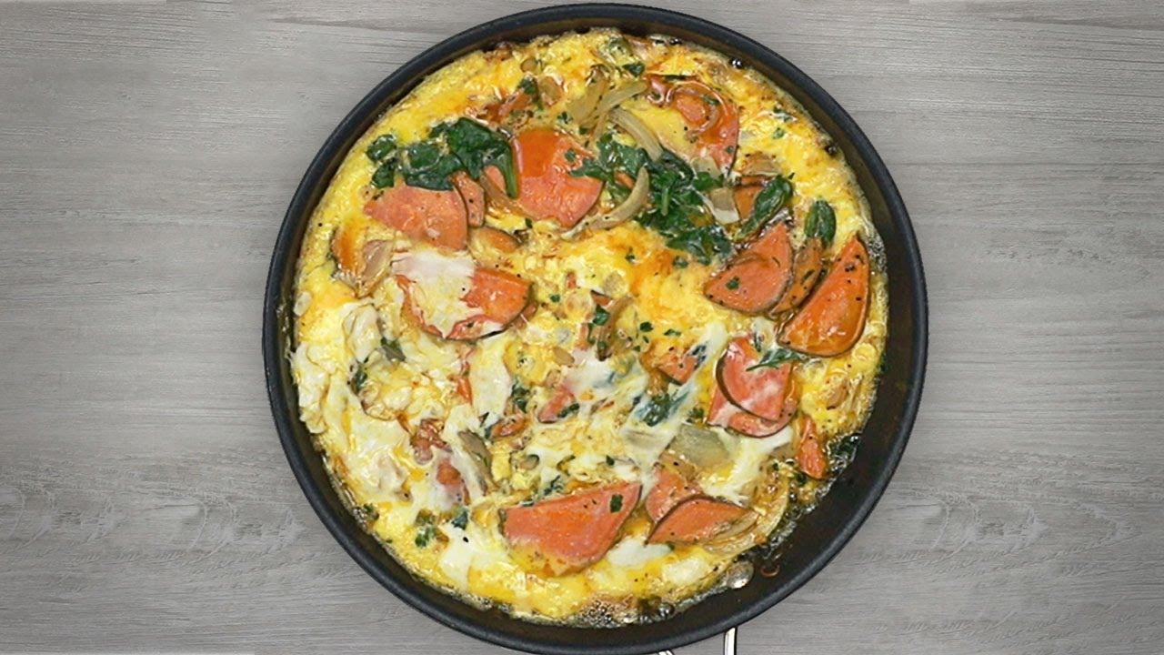 Almost Spanish Omelet Recipe - YouTube