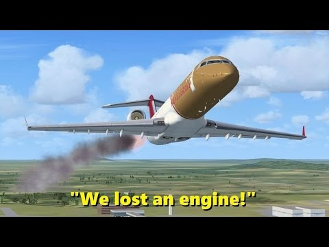 ENGINE FAILURE after TAKEOFF! Trolling in Flight Simulator X (Multiplayer)